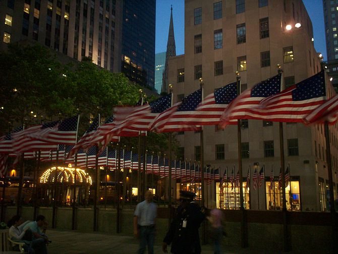The Flags on Memorial Day weekend