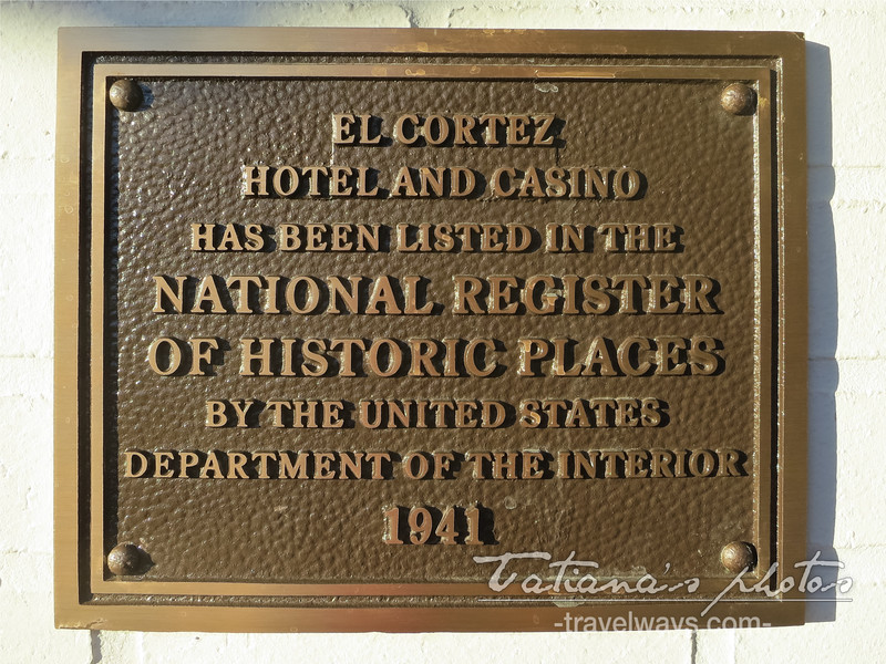 El Cortez Hotel and Casino historic sign