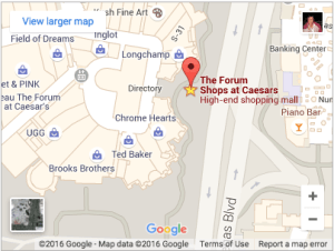 Forum Shops at Caesars Palace map