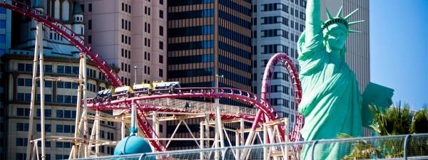 Adrenaline rush things to do in Vegas: New York New York roller coaster
