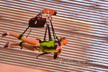 Adrenaline rush Las Vegas - Slotzilla zip-liner on Fremont Street Experience