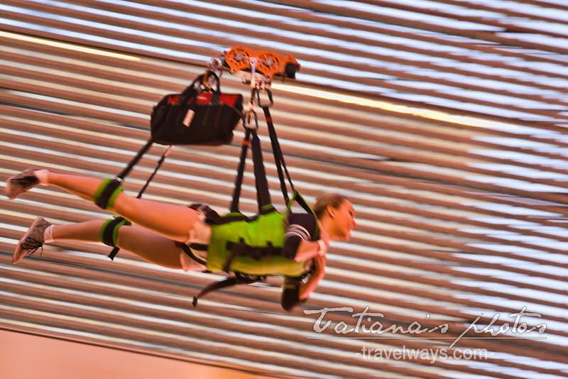 Flying with the slotzilla zipline