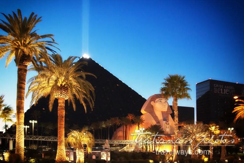 Luxor Pyramid and beam in Las Vegas