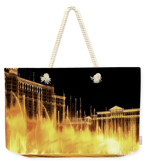 Bellagio dancing fountains Weekender tote bag
