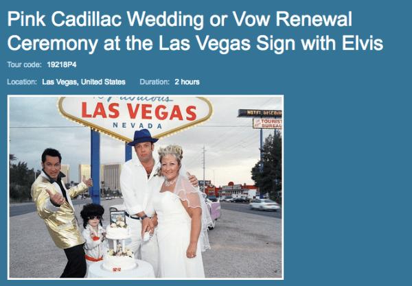 Pink Cadillac Weding in Las Vegas