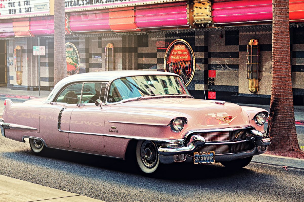 Elvis Pink Cadillac tour on Fremont Street Experience