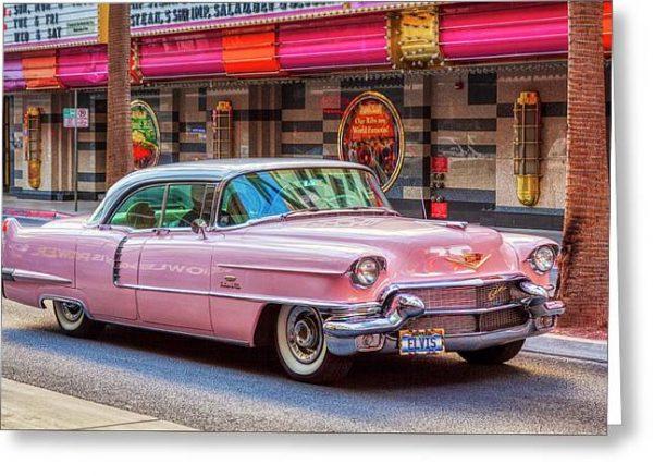 Elvis Pink Cadillac Tour Greeting Card