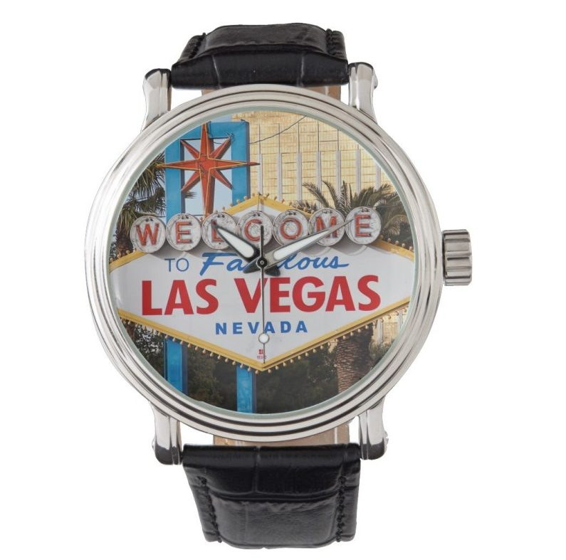 Welcome to Las vegas sign man's watch