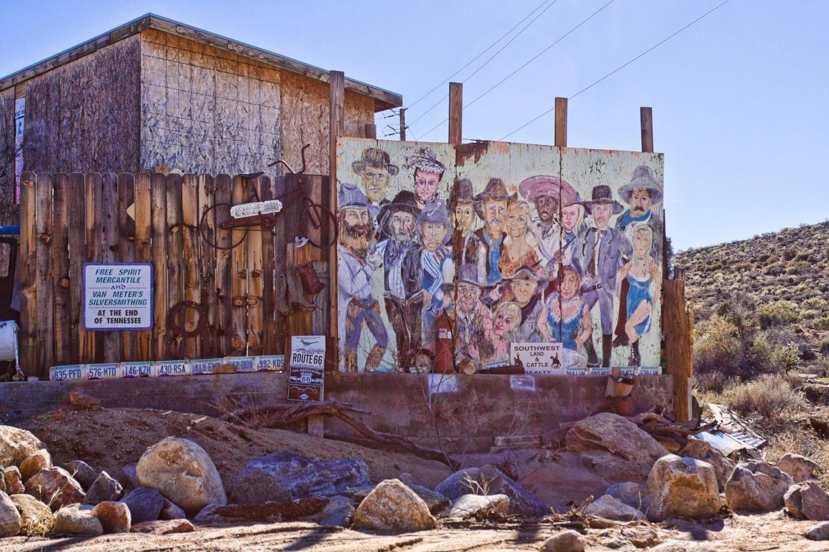 Entrance to Chloride, Arizona mural