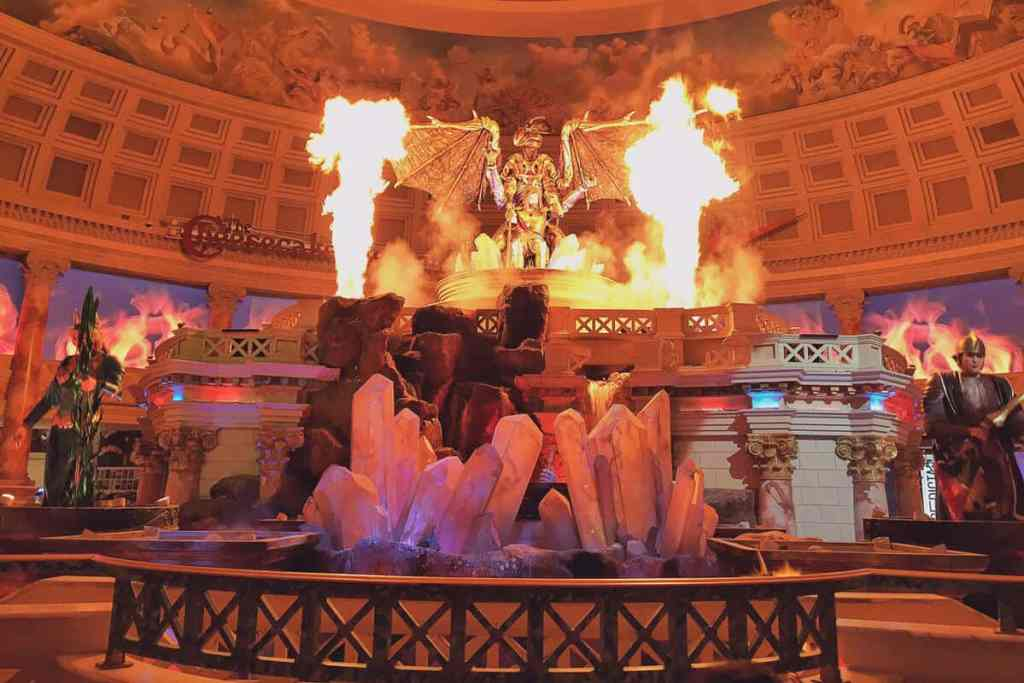 Fall of Atlantis at Caesars Palace Forum Shops - Free Things to do in Las Vegas