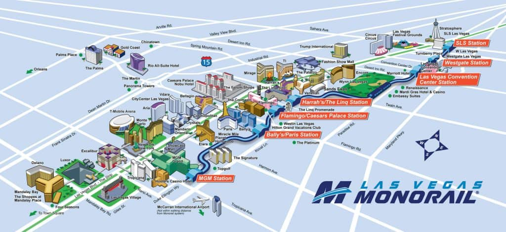 Las Vegas Monorail - Best Las Vegas Transportation