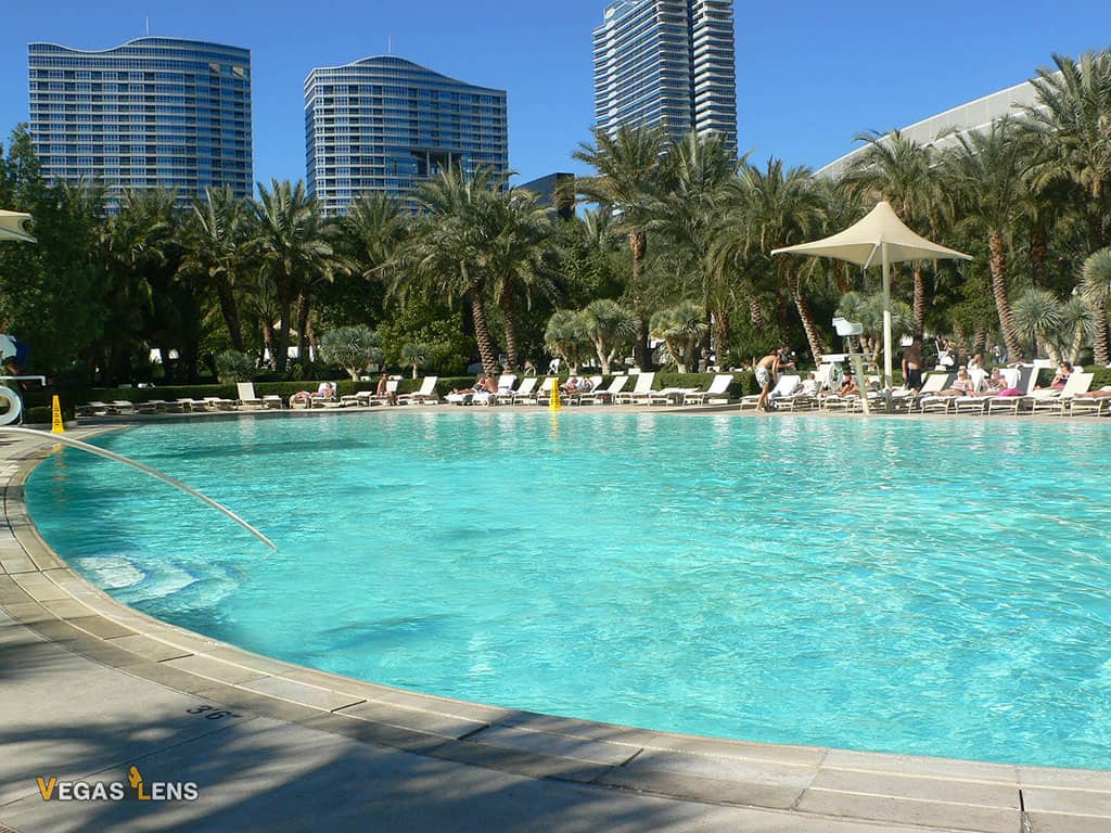 Aria Hotel Pool - Best family pools in Las Vegas