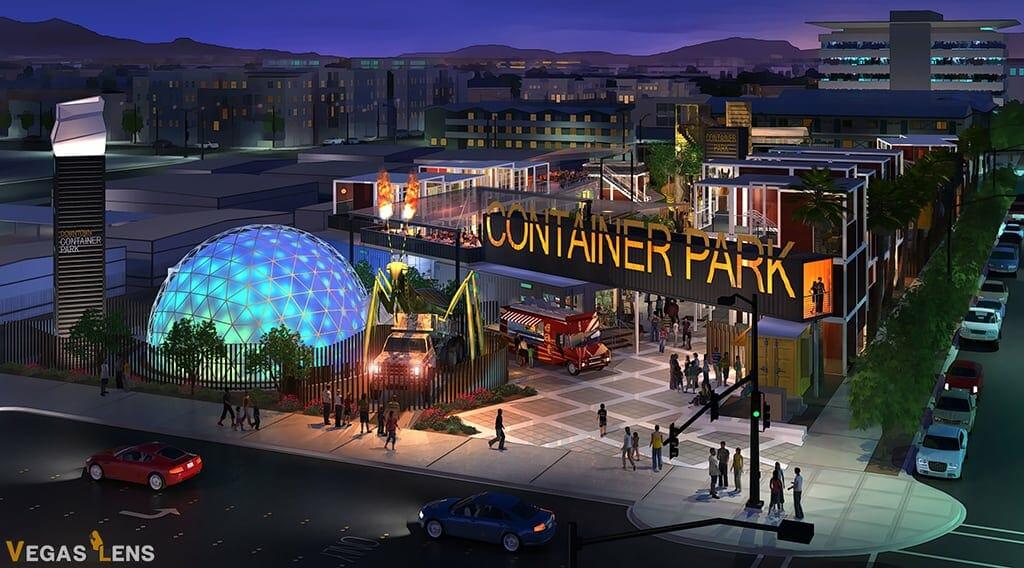 Downtown Container Park - Las Vegas bachelorette party ideas