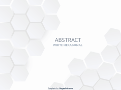 Abstract White Hexagonal PowerPoint Template