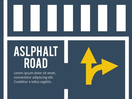 Animated Asphalt Road PowerPoint Template