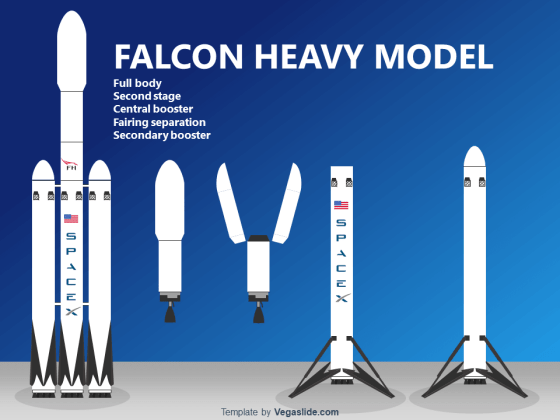 Falcon Heavy Model PowerPoint Template