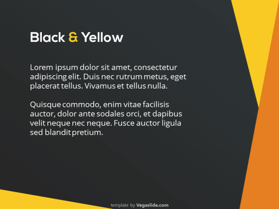 Abstract Black & Yellow PowerPoint Template