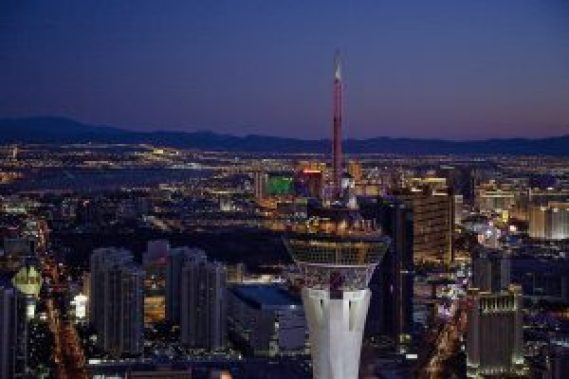 The Stratosphere Tower is a great cheap date night in Las Vegas