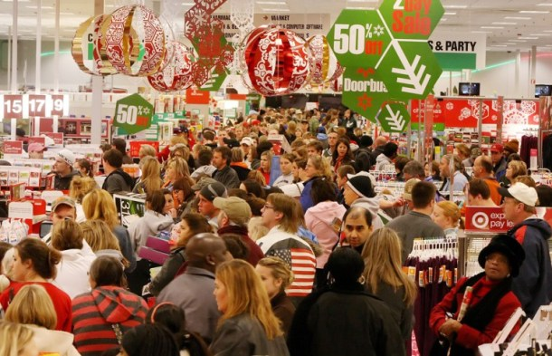 Target holiday shoppers pack the store on black friday
