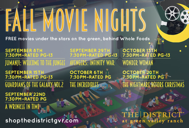 Fall Movie Nights at the District - Vegas Living on the Cheap