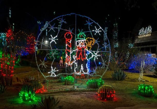 Holiday Cactus Garden Light Event at Ethel M Chocolates