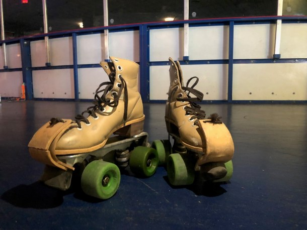 Old pair of roller skates