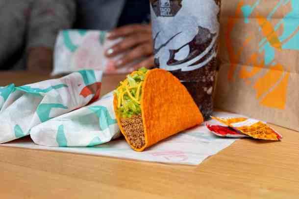 Taco Bell rewards free doritos locos taco