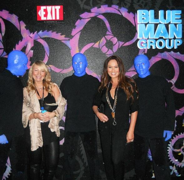 Tia Carrere Attends Blue Man Group at Monte Carlo Resort and Casino