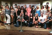 """Cast of MAMMA MIA! The Musical Visits Claire Sinclair's """"PIN UP"""" at The Stratosphere in Las Vegas"""