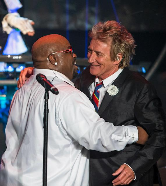 Cee Lo Green and Rod Stewart