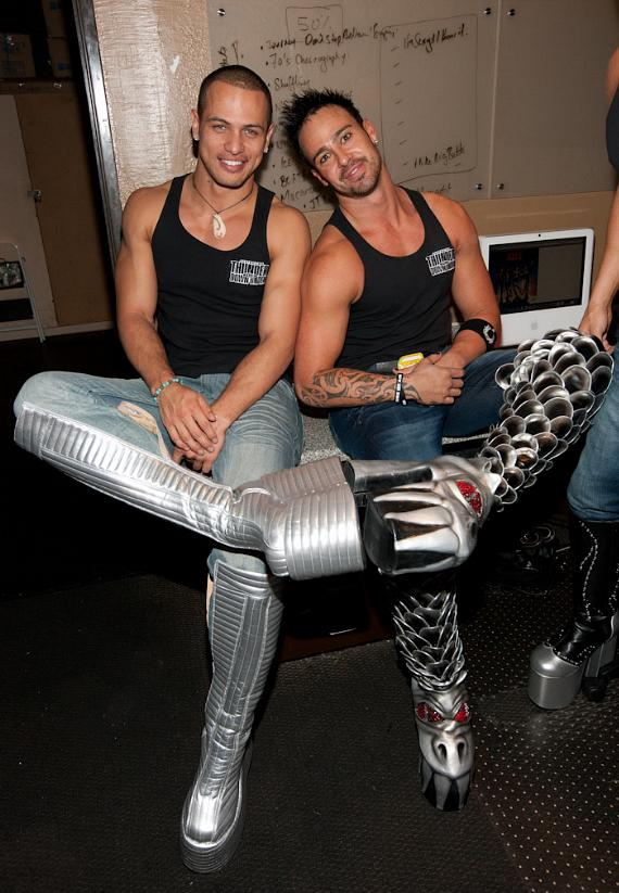 Australian Bee Gees wear the Official KISS Boots in Las Vegas