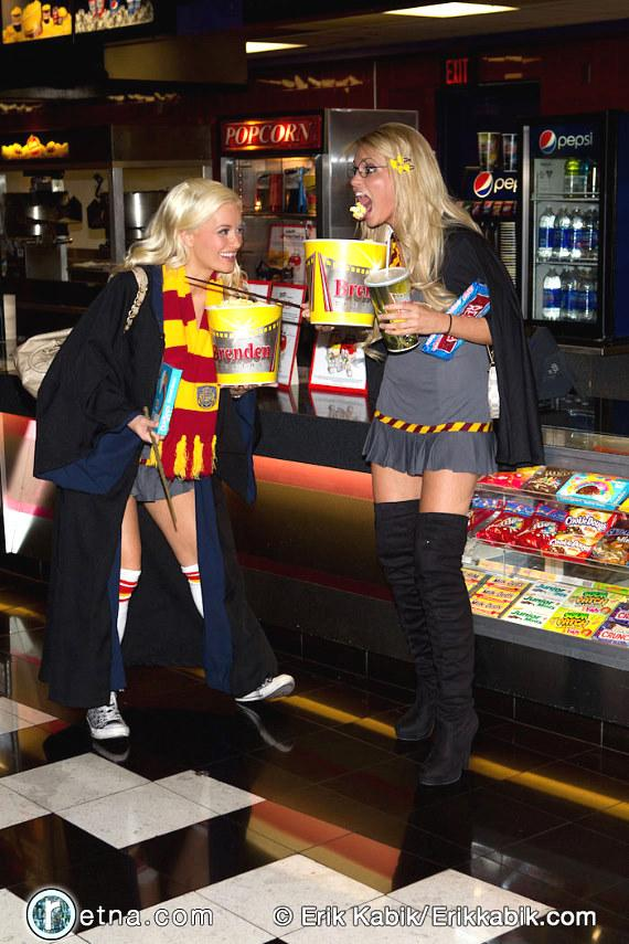 Holly Madison dresses up for new Harry Potter movie