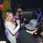 Stassi Schroeder in DJ booth at Hard Rock Hotel & Casino Las Vegas
