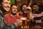 Cheerful,Young,Handsome,Male,Friends,Having,Fun,At,The,Beer