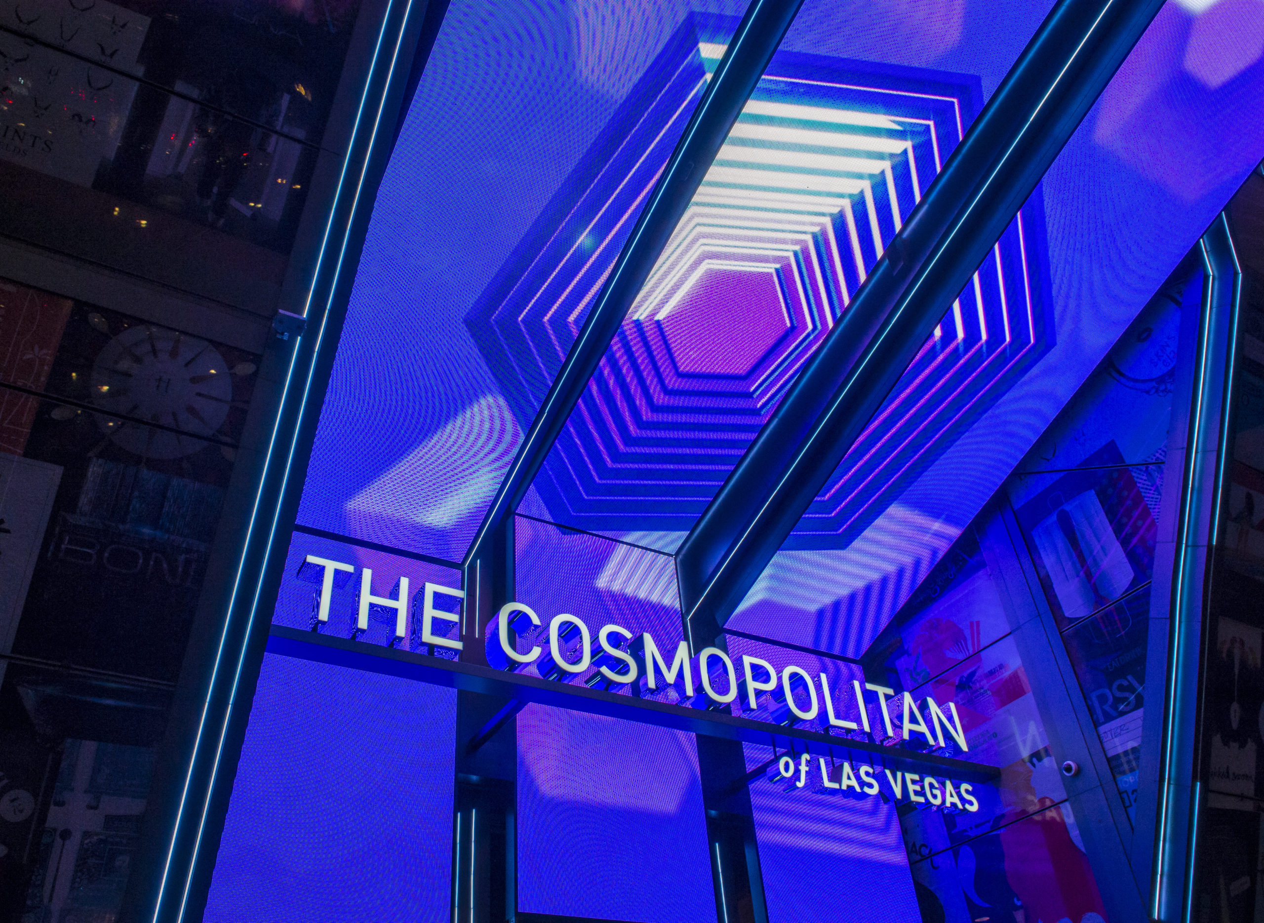 Sign for the Cosmopolitan