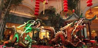 Bellagio Conservatory - Year of the Dragon - South Garden
