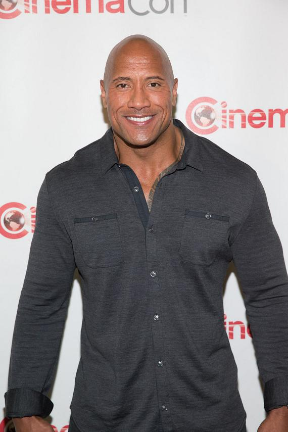 """Dwayne """"The Rock"""" Johnson at CinemaCon 2014 at The Colosseum of Caesars Palace in Las Vegas"""
