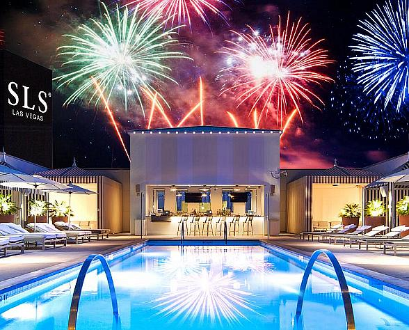 SLS Las Vegas to Celebrate Fourth of July Holiday with No Resort Fees and the Best Rates of the Summer