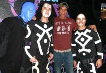 Guitarist Greg Howe Attends Blue Man Group at Monte Carlo Resort and Casino