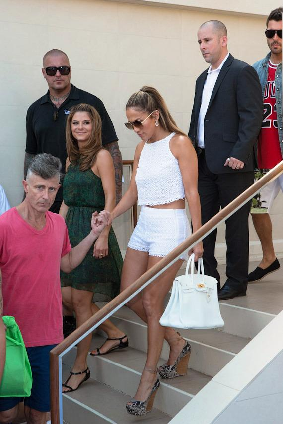 Jennifer Lopez arrives at WET REPUBLIC at MGM Grand