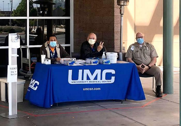 The Mask Task Force Powered by Las Vegas Fashion Council Donates Masks To UMC
