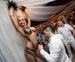 Model at STK White Party