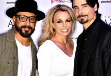 """Backstreet Boys AJ McLean and Kevin Richardson at """"Britney: Piece of Me"""" at Planet Hollywood Resort & Casino"""