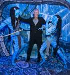 Actor Stephen Lang with Na'vi Warriors at Avatar Ribbon Cutting at G2E