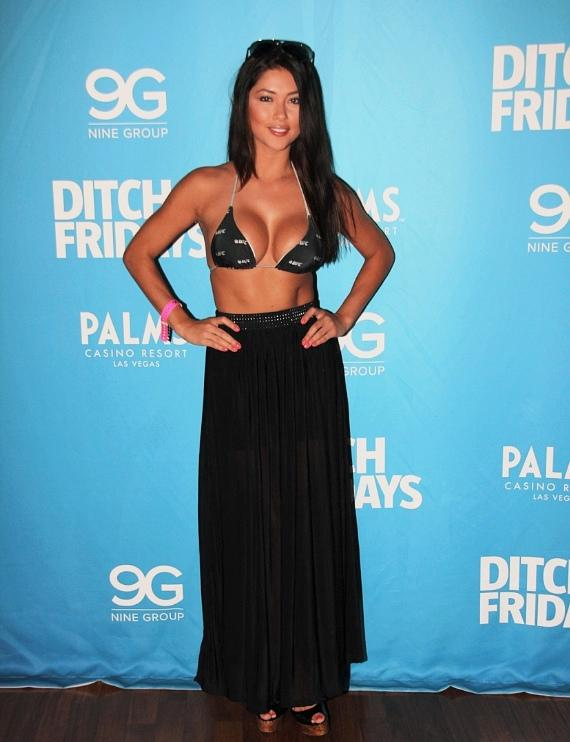 Brittney Palmer and Arianny Celeste at Palms Pool & Bungalows at Palms Casino Resort