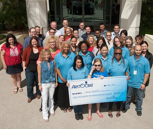 Aristocrat Employees Donate $22,980 to Make-A-Wish Southern Nevada
