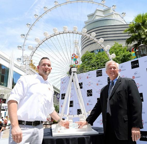 LEGO Certified Professional Adam Reed Tucker Unveils Observation Wheel Model at The LINQ