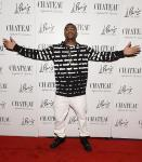 New England Patriots' Malcom Butler arrives on the red carpet at Chateau Nightclub in Las Vegas