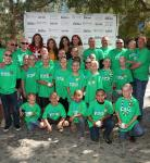 Bonner Boys pose for a photo with Miss Nevada USA, Miss Nevada Teen USA & Tournament of Kings cast members after getting their heads shaved at St. Baldrick's Day at New York-New York