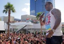 Busta Rhymes performs at Palms Pool Saturday party at Palms Pool & Bungalows
